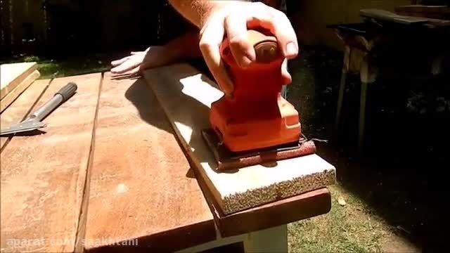 آموزش ساخت : با چوب های بدرد نخور چراغ سقفی بسازید