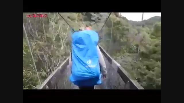 پل هنگام عبور گردشگران واژگون شد فیلم گلچین صفاسا