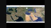 مقایسه تصاویر Bing و Google earth