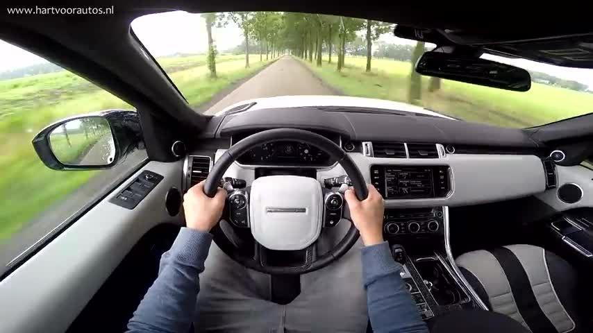 تست رانندگی رنجروور اسپرت HD 2015 SVR