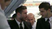 یک کلیپ جذاب از رونالدو و بازیکنان در هواپیمای مونیخ