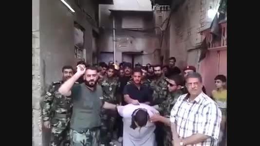 اسارت خفت بار فرمانده داعشی بدست نیروهای مردمی