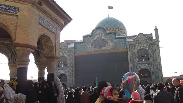 فیلم روز اربعین صحن آستان امامزاده حسین (ع) قزوین