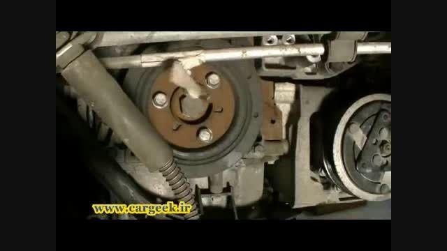 آموزش تعویض تسمه تایم و واترپمپ موتور TU5 (پژو206-207)