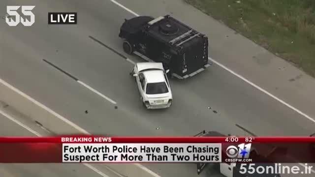 پایان دادن خودرو زرهی پلیس به تعقیب و گریز خسته کننده