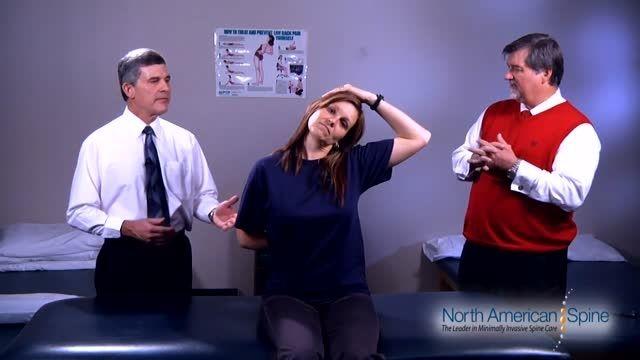 فیزیوتراپی و حرکات کششی عضلات گردن- cervical stretching