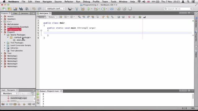 ۱۱- ساختن چندین Class در جاوا Java