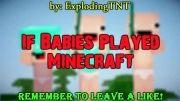 Minecraft animation : IF babies played minecraft