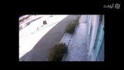 لحظه تصادف اتومبیل با عابران پیاده  !!!!
