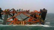 غرق شدن جکت فاز 13 پارس جنوبی در دریای خلیج فارس