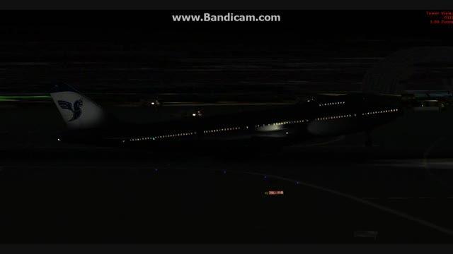 فرود 747 ایران ایر در فرودگاه مهراباد تهران