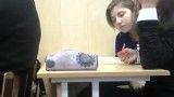 وقتی یه دختر سر کلاس خوابش بگیره