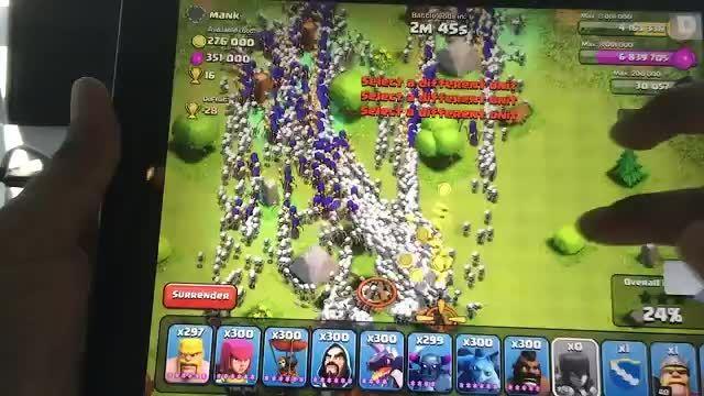 حمله با 300 جادوگر و اژدها در coc