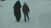 بارش برف و جلوه های زیبای طبیعت زمستان ایردموسی