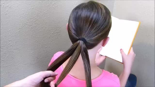 مدل موی بافته شده بسته مناسب برای مدرسه