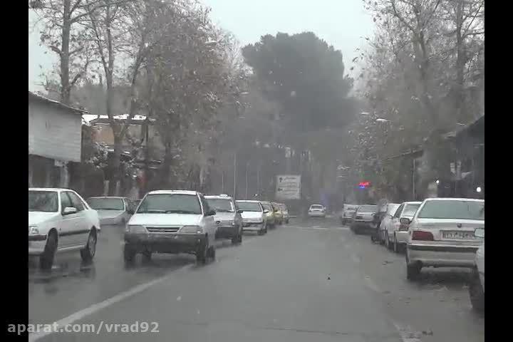 اولین برف زمستانی سال 94 در شهر صحنه