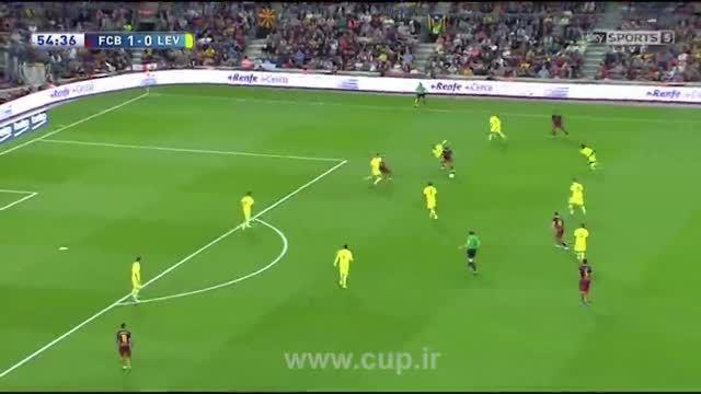 خلاصه بازی؛ بارسلونا ( 4 ) - لوانته ( 1 )