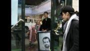 حضور پدر شهد احمدی روشن در اختتامیه جشنواره مردمی فیلم عمار