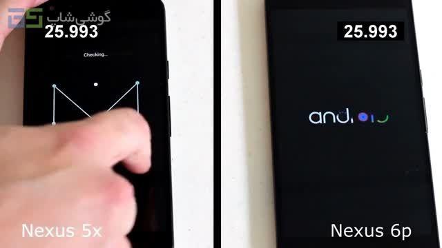 مقایسه سرعت Nexus 6P و Nexus 5X