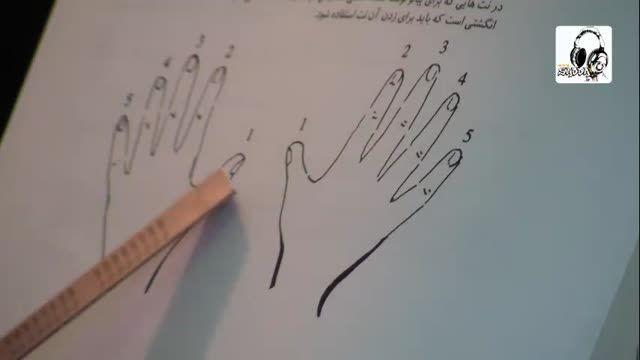 آموزش شماره گذاری انگشتان در نوازندگی پیانو