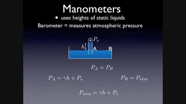 مکانیک سیالات 7 - اندازه گیری فشار
