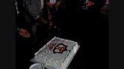 برش کیک افتتاح مدرسه فوتبال شهرداری بندرعباس