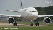 Line up  و تیک آف A310-300 EP-IBK ایران ایر از هامبورگ