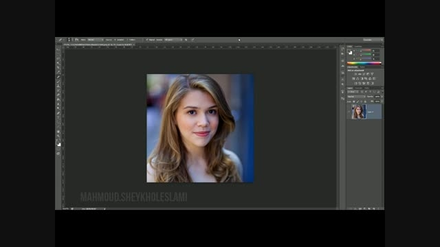 آموزش فتوشاپ -  روتوش حرفه ایی چهره - قسمت اول