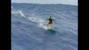 موج سواری خطرناک اما واقعا دیدنی