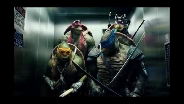 صحنه ای خنده دار از فیلم لاک پشت های نینجا
