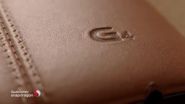 قاب پشتی چرمی قهوه ای ال جی جی 4