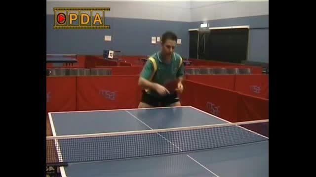 OPDA آموزش پینگ پنگ:بک هند تاپ اسپین در مقابل بک اسپین