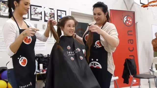 کوتاه کردن موی دختر بچه 3