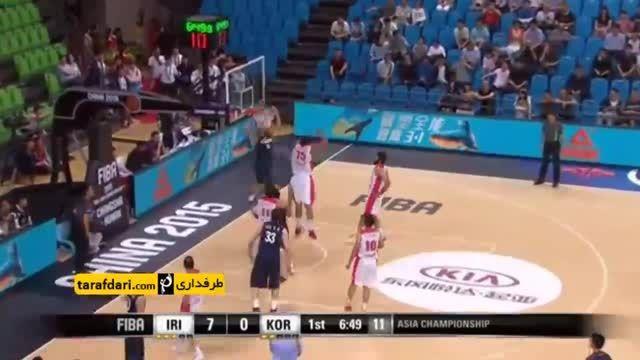 بسکتبال جام ملت های آسیا؛ ایران ۷۵ - ۶۲کره جنوبی