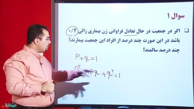 ژنتیک جمعیت از زیست چهارم دبیرستان - محمدرضا ناظم