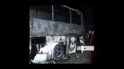تصادف مرگبار دو اتوبوس در قم دستکم 43 کشته و 44 مصدوم برجا