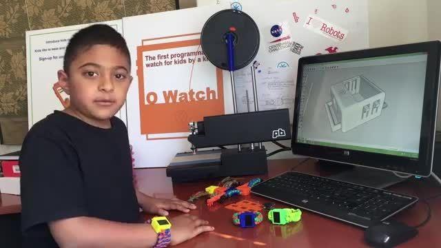 ساخت ساعت هوشمند با پرینتر سه بعدی توسط پسر 8 ساله