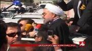حضور رییس جمهور در جمع زلزله زدگان برازجان