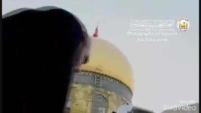 مراسم بشدت دیدنی ومعنوی تعویض پرچم مقدس حرم امام حسین ع