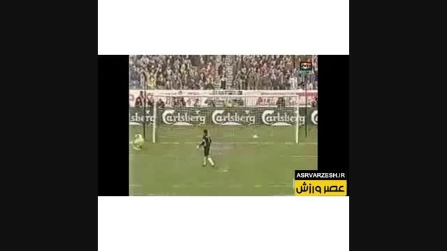 گلزنی عابدزاده در ضربات پنالتی به تیم شیلی در بهمن 1376