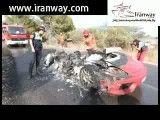 خودروی فراری اوربانگا تبدیل به خاکستر شد