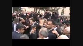 ابراز احساسات مردم شهر بورسای ترکیه به احمدی نژاد