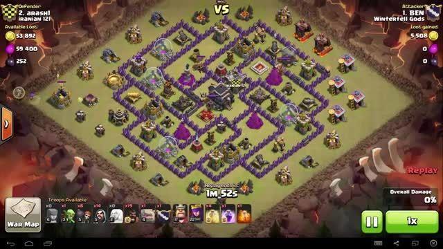 Clash of Clans - TH9 - GoHo - War 74 vs Iranian 121 - B