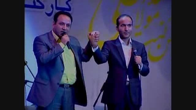 گفتگوی خنده دار حسن ریوندی با مرتضی حسینی + تقلید صدا