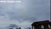فرود هواپیمای قطر در منچستر با اسکورت جنگنده بریتانیایی