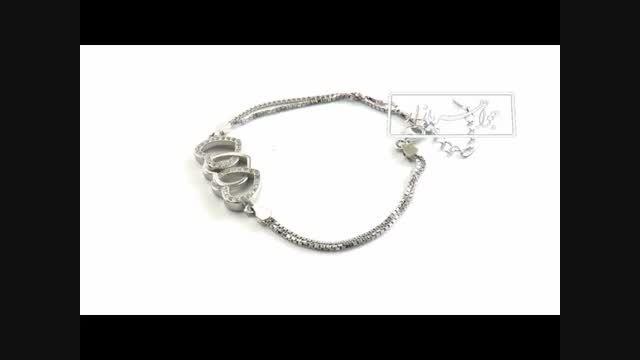 دستبند نقره طرح قلب زنانه - کد 8929