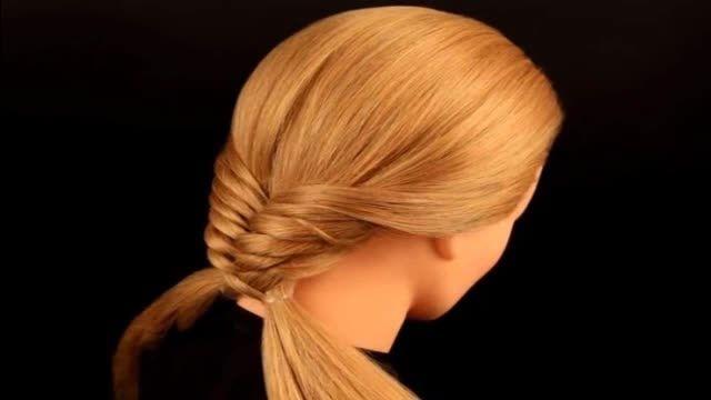 آموزش بافت مو ، مدل تیغ ماهی