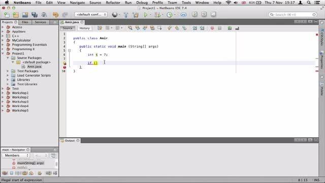 ۸- توضیح if در جاوا Java