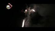نورباران آسمان کامیاران در شب پیروزی انقلاب اسلامی ایران