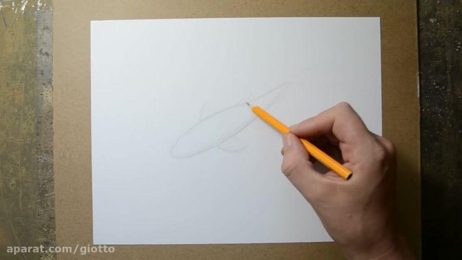 نقاشی ماهی سه بعدی بسیار زیبا